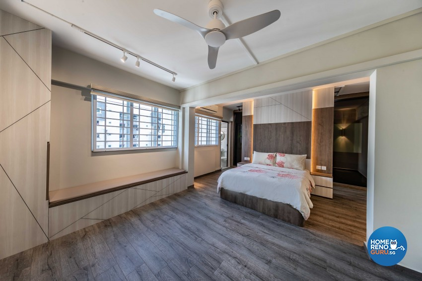 Modern Design - Bedroom - HDB 4 Room - Design by G'Plan Design Pte Ltd