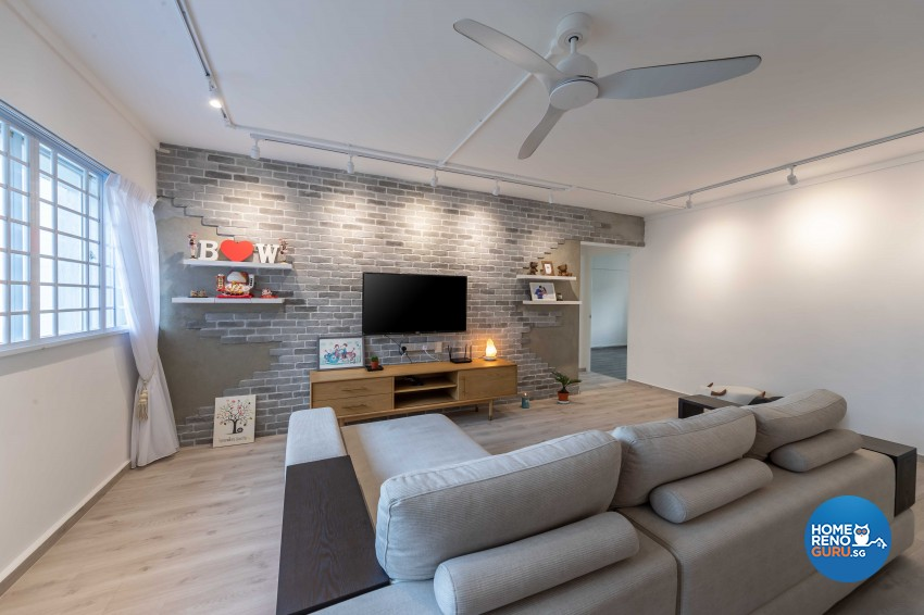 Modern Design - Living Room - HDB 4 Room - Design by G'Plan Design Pte Ltd