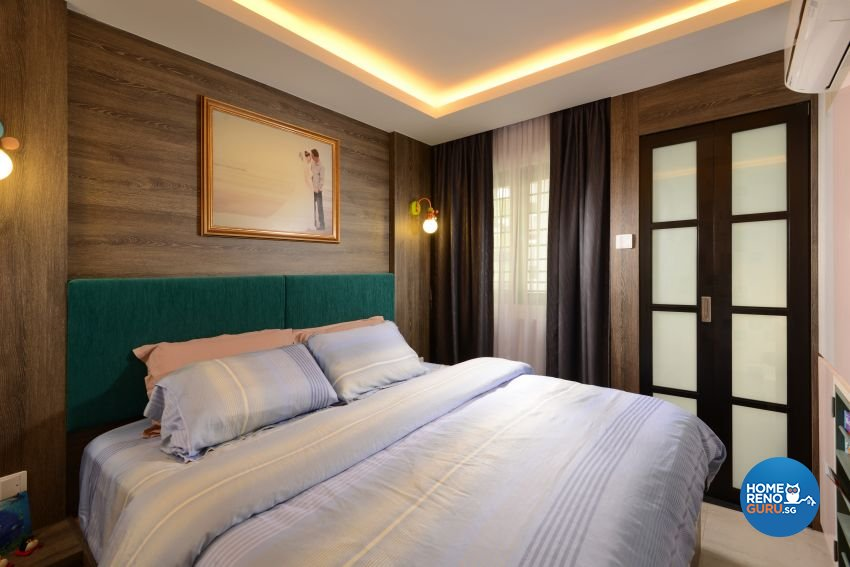 Mediterranean, Rustic, Vintage Design - Bedroom - HDB 4 Room - Design by G'Plan Design Pte Ltd