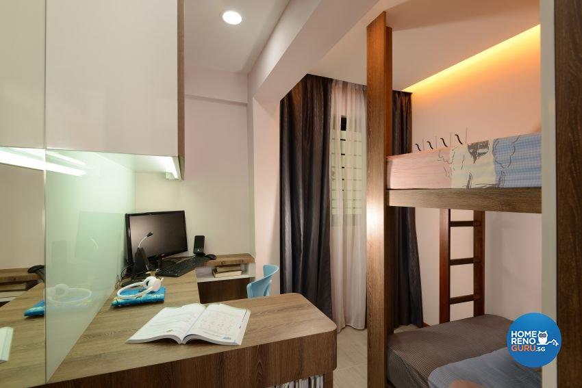 Mediterranean, Rustic, Vintage Design - Study Room - HDB 4 Room - Design by G'Plan Design Pte Ltd
