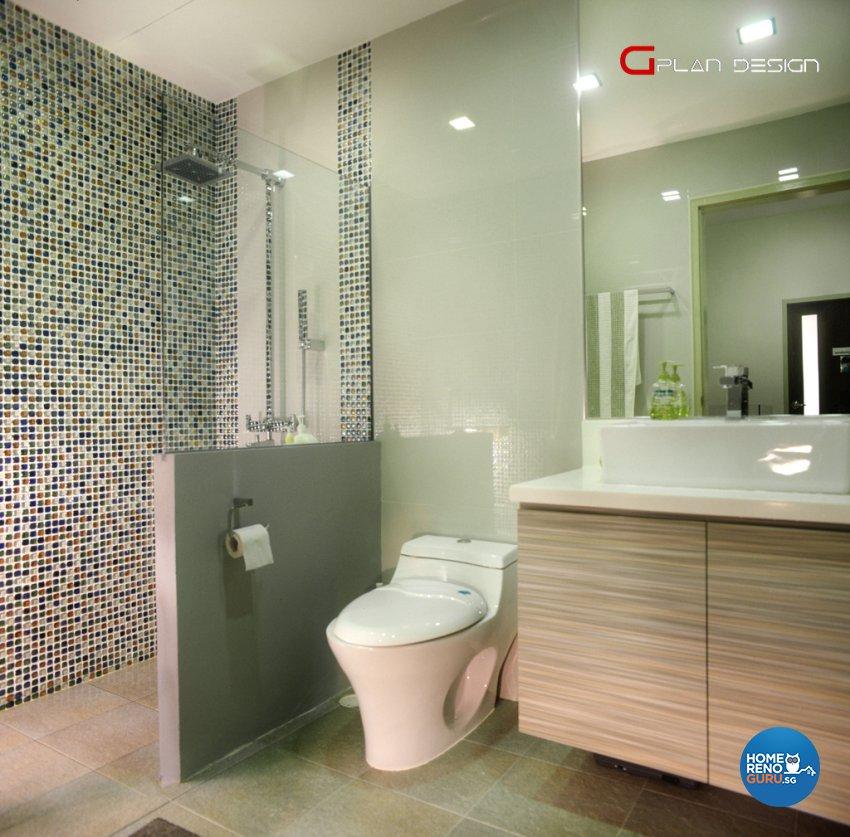 Modern Design - Bathroom - Landed House - Design by G'Plan Design Pte Ltd