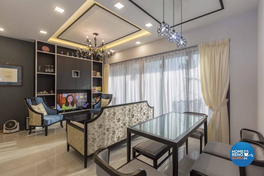 Country Design - Living Room - Condominium - Design by G'Plan Design Pte Ltd