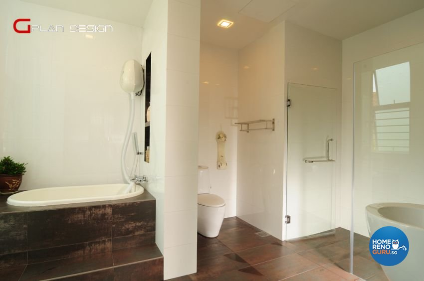 Contemporary Design - Bathroom - Landed House - Design by G'Plan Design Pte Ltd