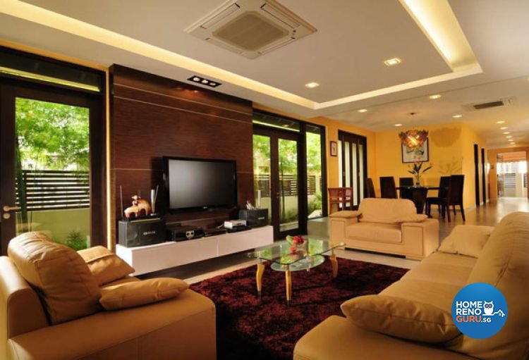Contemporary Design - Living Room - Landed House - Design by G'Plan Design Pte Ltd