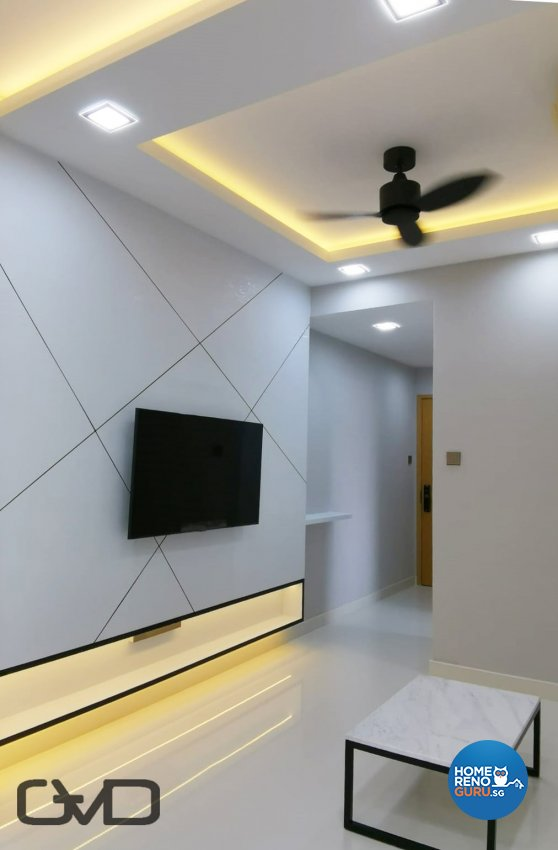 Contemporary, Modern Design - Living Room - Condominium - Design by GranVision D'sign Pte Ltd