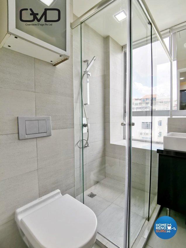 Contemporary, Modern Design - Bathroom - Condominium - Design by GranVision D'sign Pte Ltd