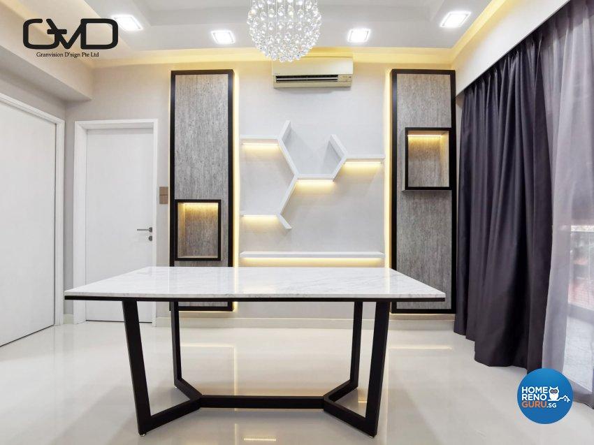 Contemporary, Modern Design - Dining Room - Condominium - Design by GranVision D'sign Pte Ltd