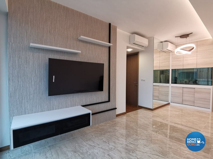 Contemporary, Modern Design - Living Room - Condominium - Design by GranVision D'sign Pte Ltd