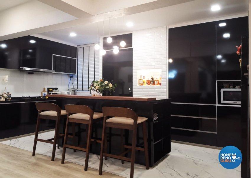 Classical, Modern Design - Kitchen - HDB Executive Apartment - Design by GranVision D'sign Pte Ltd