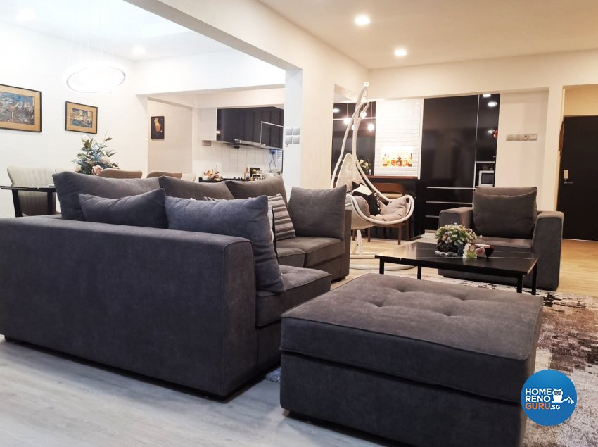 Classical, Modern Design - Living Room - HDB Executive Apartment - Design by GranVision D'sign Pte Ltd