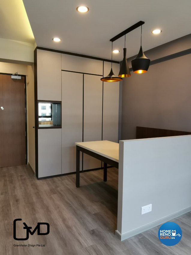 Industrial, Rustic Design - Dining Room - HDB 3 Room - Design by GranVision D'sign Pte Ltd