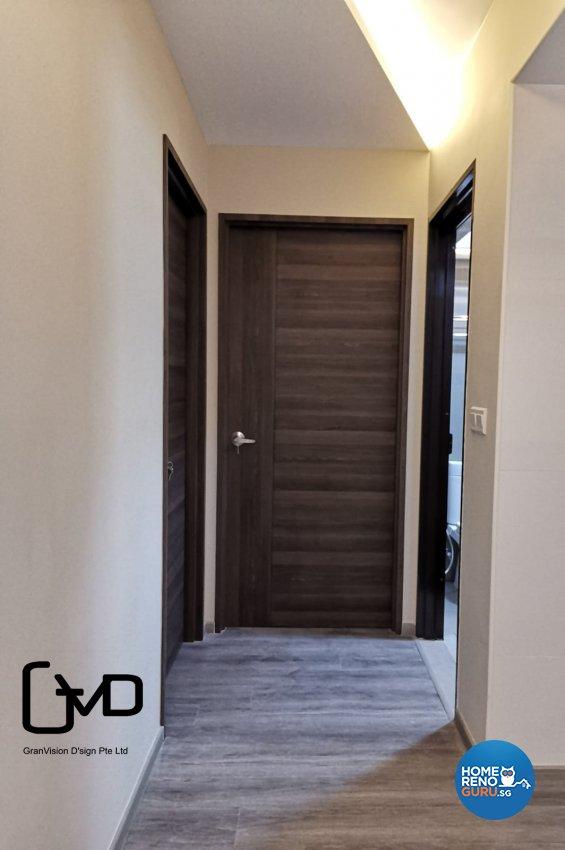 Industrial, Rustic Design - Living Room - HDB 3 Room - Design by GranVision D'sign Pte Ltd
