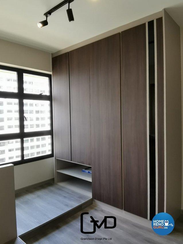 Industrial, Rustic Design - Bedroom - HDB 3 Room - Design by GranVision D'sign Pte Ltd