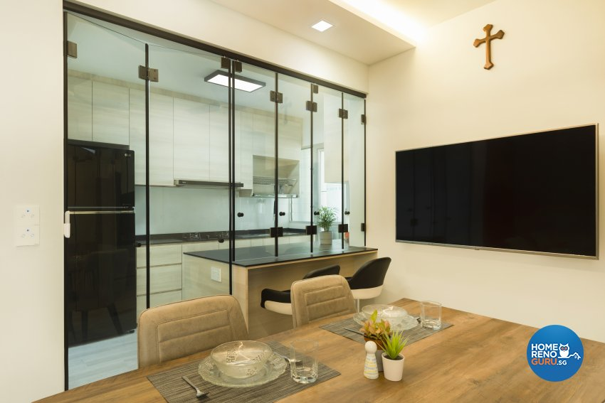 Modern Design - Dining Room - HDB 4 Room - Design by Great Oasis Interior Design