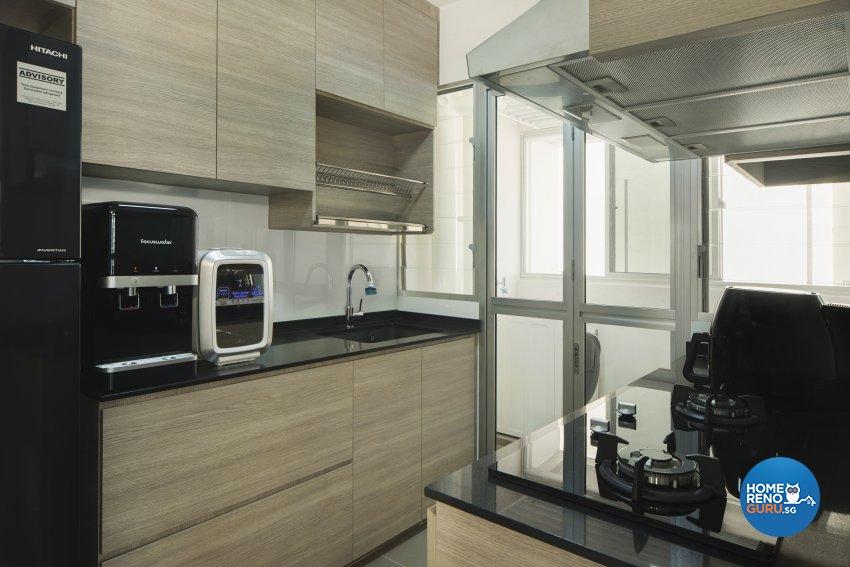 Contemporary, Scandinavian Design - Kitchen - HDB 3 Room - Design by Great Oasis Interior Design