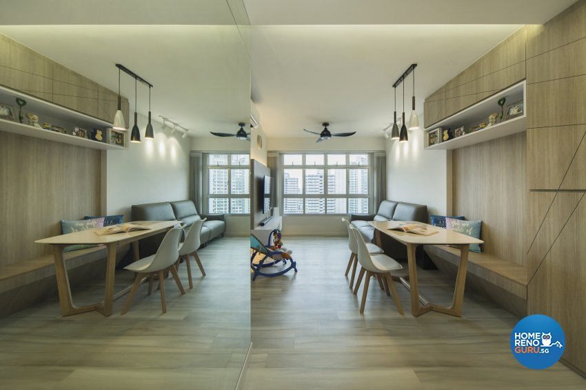 Contemporary, Scandinavian Design - Living Room - HDB 3 Room - Design by Great Oasis Interior Design
