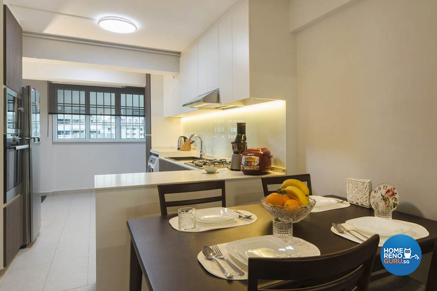 Contemporary Design - Kitchen - HDB 3 Room - Design by Great Oasis Interior Design