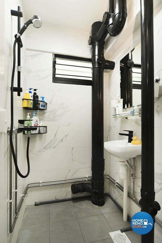 Contemporary Design - Bathroom - HDB 3 Room - Design by Great Oasis Interior Design