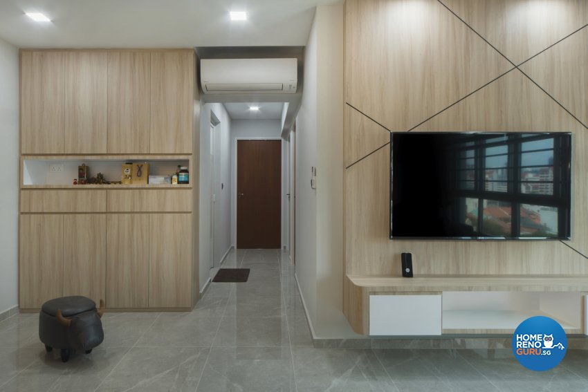 Contemporary Design - Living Room - HDB 4 Room - Design by Great Oasis Interior Design