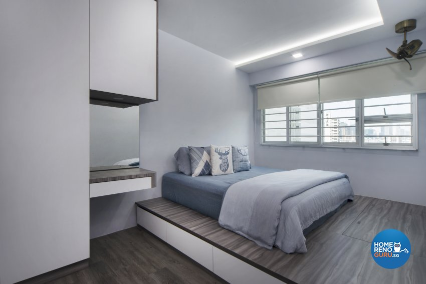 Contemporary Design - Bedroom - HDB 4 Room - Design by Great Oasis Interior Design