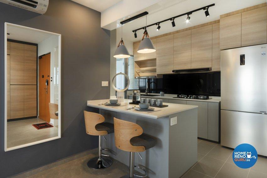 Contemporary, Modern Design - Kitchen - HDB 4 Room - Design by Great Oasis Interior Design