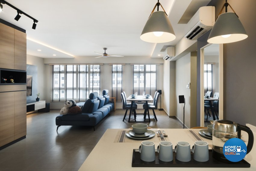 Contemporary, Modern Design - Living Room - HDB 4 Room - Design by Great Oasis Interior Design