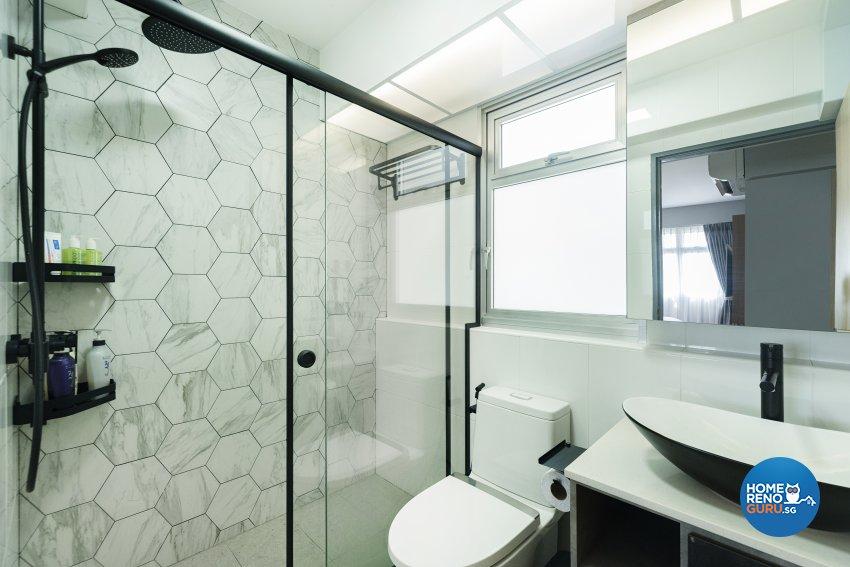 Contemporary, Modern Design - Bathroom - HDB 4 Room - Design by Great Oasis Interior Design