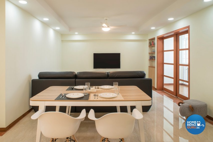 Contemporary, Modern Design - Living Room - HDB 5 Room - Design by Great Oasis Interior Design
