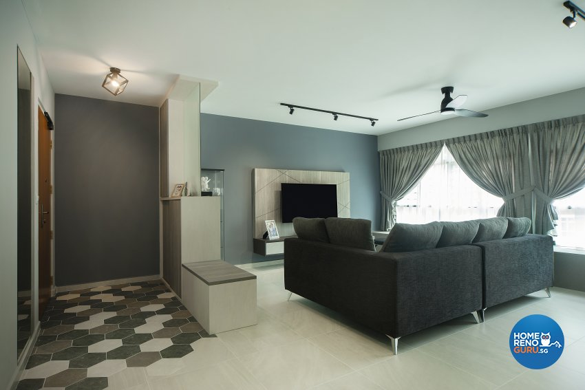 Modern Design - Living Room - HDB 5 Room - Design by Great Oasis Interior Design