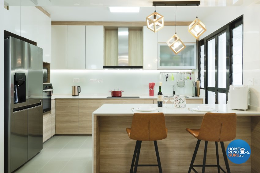 Contemporary, Modern, Tropical Design - Kitchen - HDB 5 Room - Design by Great Oasis Interior Design