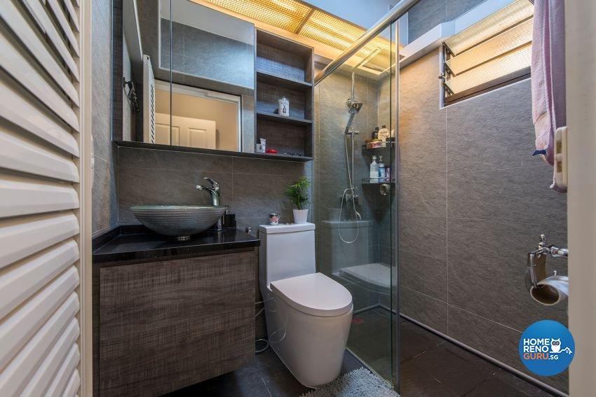 Modern Design - Bathroom - HDB 4 Room - Design by GSID
