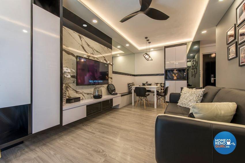 Modern Design - Living Room - HDB 4 Room - Design by GSID