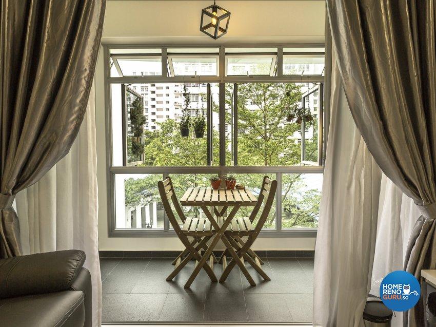 Modern Design - Balcony - HDB 4 Room - Design by GSID