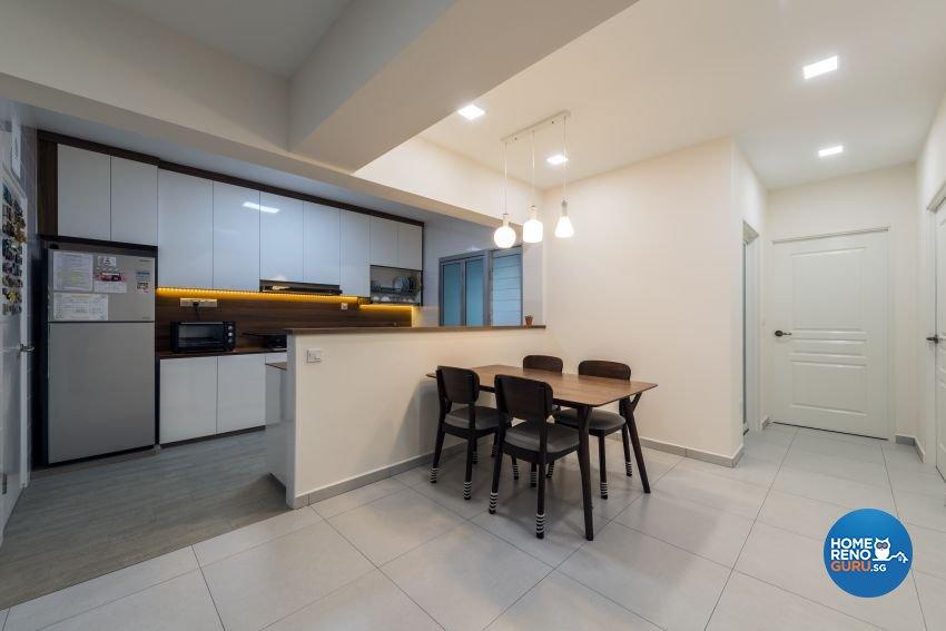 Minimalist Design - Dining Room - HDB 5 Room - Design by GV Design & Construction