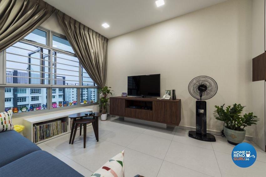 Minimalist Design - Living Room - HDB 5 Room - Design by GV Design & Construction
