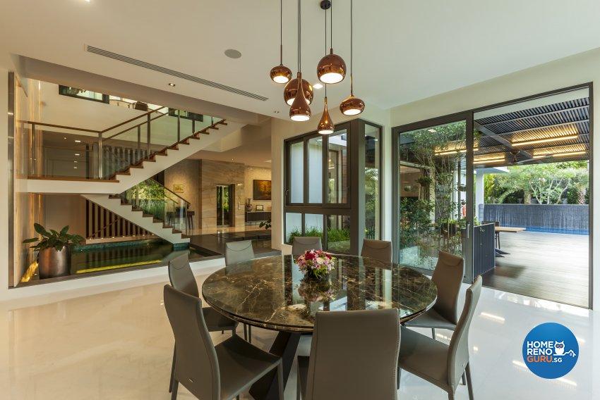 Modern Design - Dining Room - Landed House - Design by HabitatOne Concepts