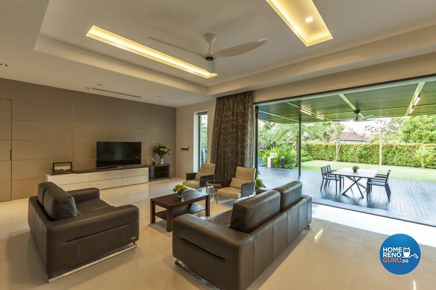 Modern Design - Living Room - Landed House - Design by HabitatOne Concepts