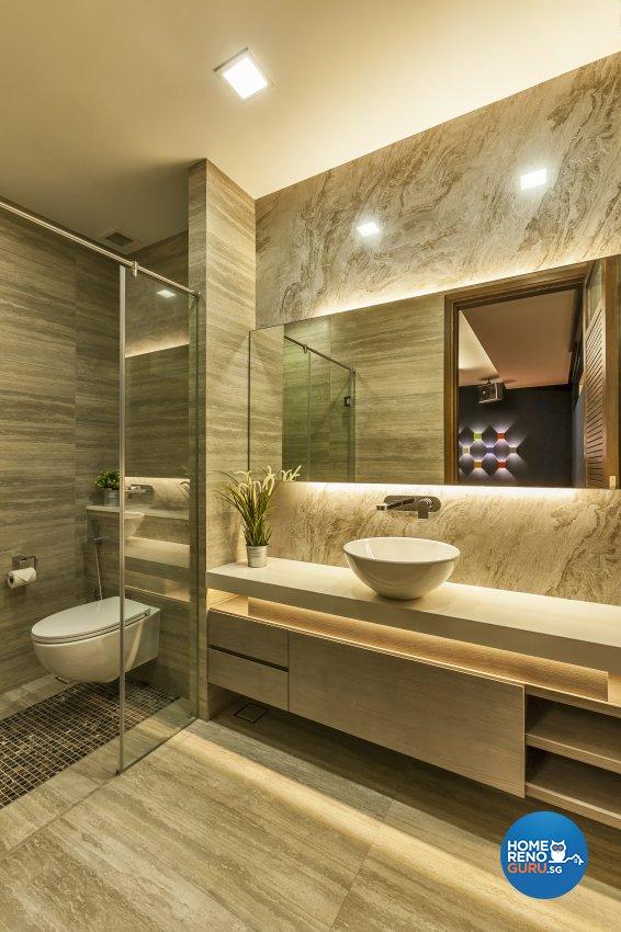 Modern Design - Bathroom - Landed House - Design by HabitatOne Concepts
