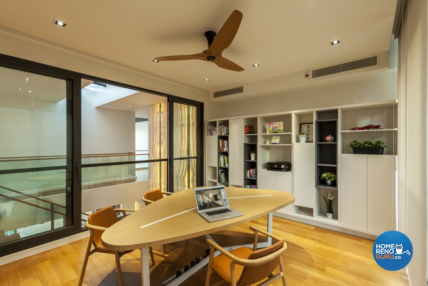 Modern Design - Study Room - Landed House - Design by HabitatOne Concepts