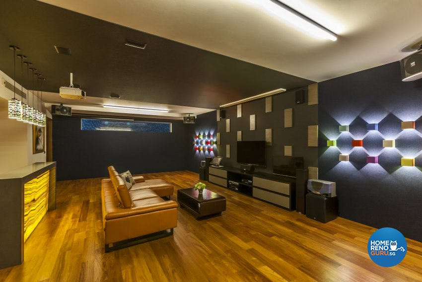 Modern Design - Entertainment Room - Landed House - Design by HabitatOne Concepts
