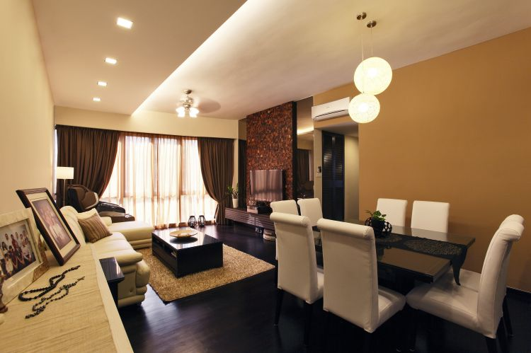 Modern, Tropical Design - Living Room - Condominium - Design by HabitatOne Concepts