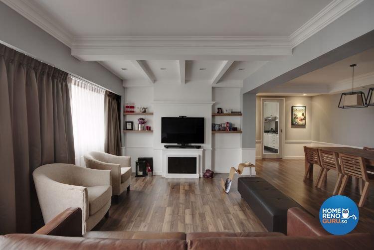 Modern, Scandinavian, Tropical Design - Living Room - HDB 5 Room - Design by Hap Design Pte Ltd