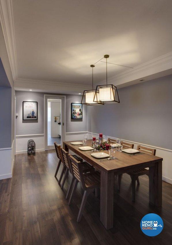 Modern, Scandinavian, Tropical Design - Dining Room - HDB 5 Room - Design by Hap Design Pte Ltd