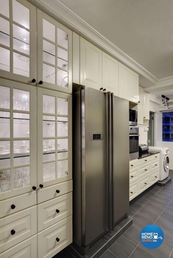 Modern, Scandinavian, Tropical Design - Kitchen - HDB 5 Room - Design by Hap Design Pte Ltd