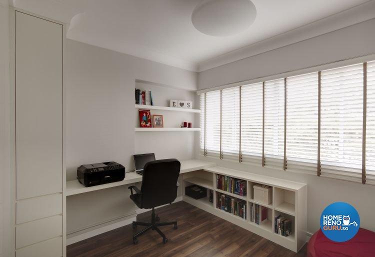 Modern, Scandinavian, Tropical Design - Study Room - HDB 5 Room - Design by Hap Design Pte Ltd