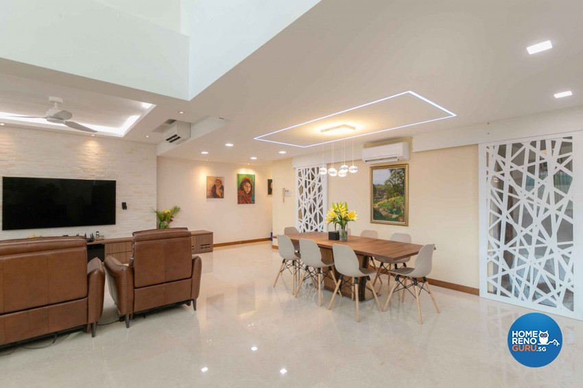 Contemporary Design - Living Room - Condominium - Design by Home Concepts Interior & Design Pte Ltd