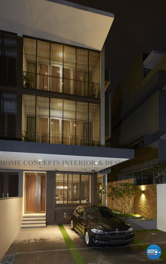 Contemporary, Modern Design - Balcony - Landed House - Design by Home Concepts Interior & Design Pte Ltd