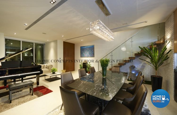 Contemporary, Modern Design - Living Room - Landed House - Design by Home Concepts Interior & Design Pte Ltd