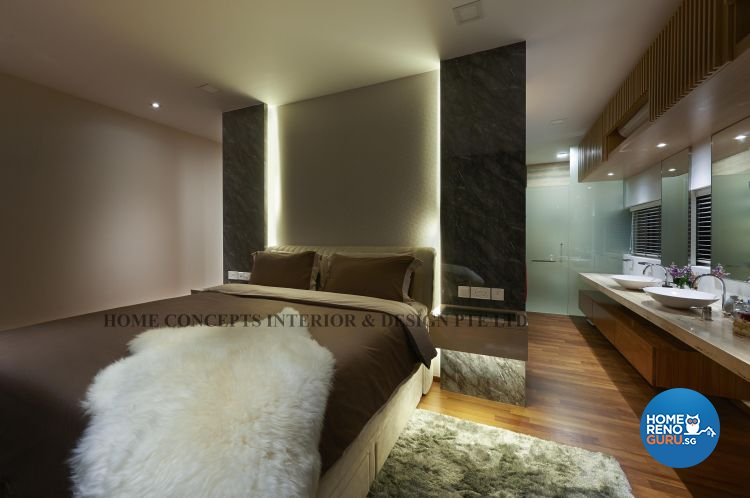 Contemporary, Modern Design - Bedroom - Landed House - Design by Home Concepts Interior & Design Pte Ltd