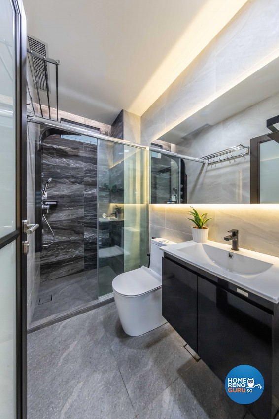 Contemporary, Modern Design - Bathroom - HDB 5 Room - Design by Home Concepts Interior & Design Pte Ltd